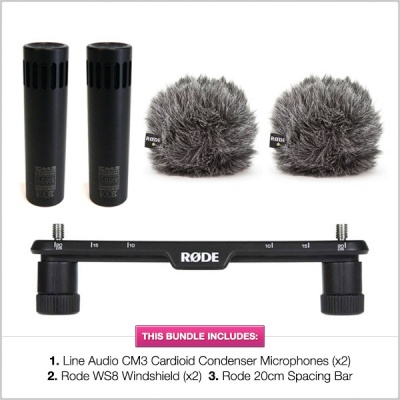 Line Audio CM3s and Rode WS8 Stereo Bundle