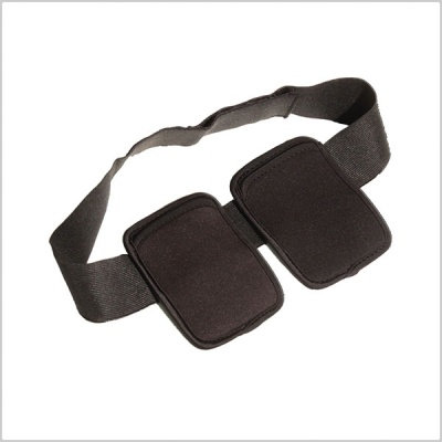 Pinknoise Double Waist Pouch for Radio Mic Transmitters (Black)