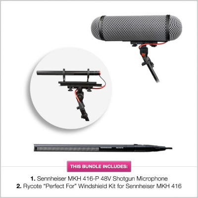 Rycote ''Perfect For'' Windshield with Sennheiser MKH 416 Bundle