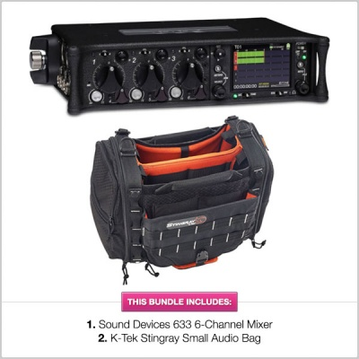 Sound Devices 633 Mixer Recorder with K-Tek Stingray Bag Small