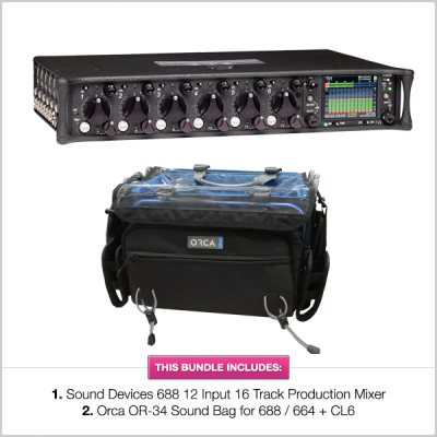 Sound Devices 688 Mixer Recorder with Orca OR-34 Bundle