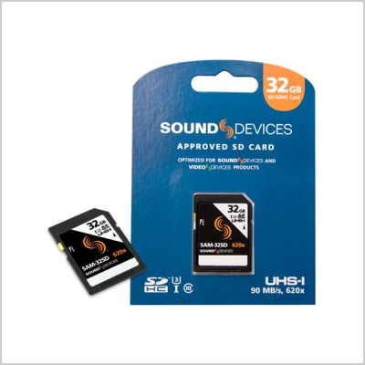 Sound Devices SAM-32SD Approved Media SD Card (32GB)