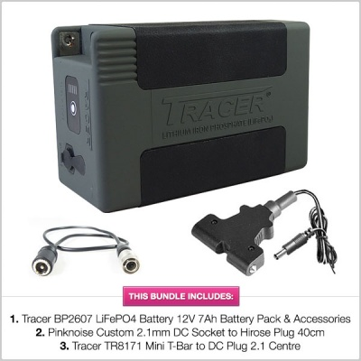 Tracer BP2607 LiFePO4 Battery 12V 7Ah Battery Pack with Accessories & Cables