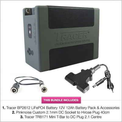 Tracer BP2612 LiFePO4 Battery 12V 12Ah Battery Pack with Accessories & Cables