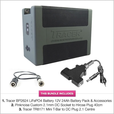 Tracer BP2624 LiFePO4 Battery 12V 24Ah Battery Pack with Accessories & Cables