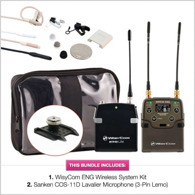 Wisycom ENG Wireless System Kit with Sanken COS11