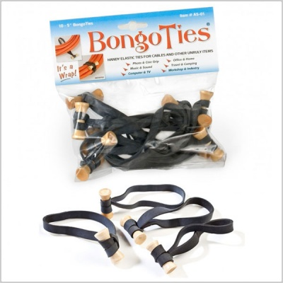 Bongo Ties Multi-Purpose Elastic Ties (10 Pack)