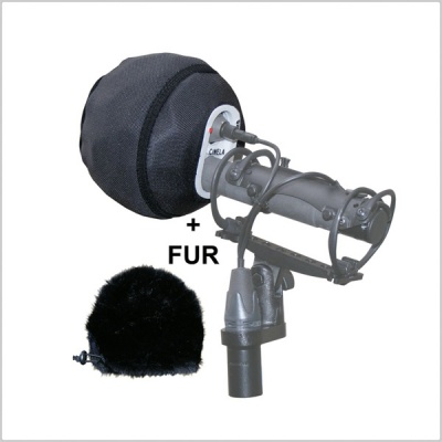 Cinela LEONARD Small Windshield with Fur for 20mm Diameter Microphones