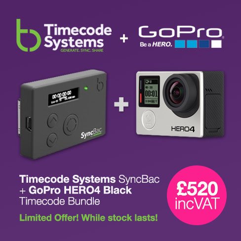 Timecode Systems SyncBac with GoPro Hero4 Black