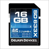 Delkin 633X SDHC UHS-I Memory Card (16GB)