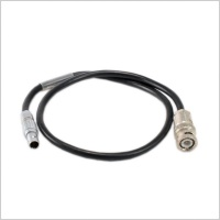 Custom Cable 5-Pin Lemo to BNC T/C Out VanDamme Cable for Timecode - Used