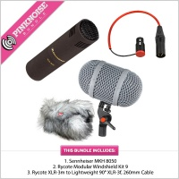 Sennheiser MKH 8050, Rycote Windshield Kit 9 plus XLR Cable Bundle