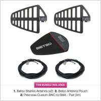 Betso Sharkie Antenna with Pouch & BNC to SMA Cable Bundle