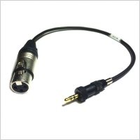 Sennheiser Transmitter Input Cable 45cm 3.5mm to 3-pin XLR Female Cable (Mic)
