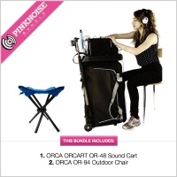 Orca OR-48 Sound Cart with OR-94 Outdoor Chair Bundle