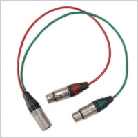 Pinknoise Custom 5-Pin XLR (Male) to Twin 3-Pin XLR (Female) Stereo Splitter Cable (40cm)
