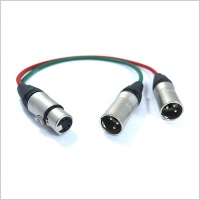 Pinknoise Custom 5-Pin XLR (Female) to Twin 3-Pin XLR (Male)