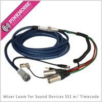 Pinknoise Mixer Loom for Sound Devices 552 w/ Timecode