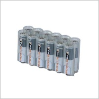 Powerpax 12-Pack AA Battery Caddy (Various Colours)