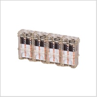 Powerpax Slimline 4-Pack 9V Battery Caddy (Various Colours)