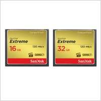 SanDisk Extreme Compact Flash Memory Card (16GB/32GB)