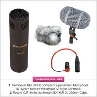 Sennheiser MKH 8050 with Rycote Windshield Kit 9 (No-CB) & XLR Bundle