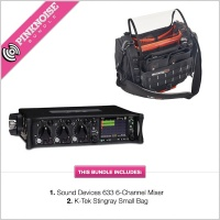 Sound Devices 633 Mixer with K-Tek Stingray Bag Small