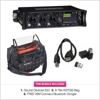 Sound Devices 633 w/ K-Tek KSTGS Small Stingray Bag & FREE WM-Connect