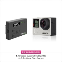 Timecode Systems GoPro Hero4 Black & SyncBac PRO Timecode Bundle