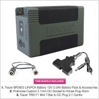 Tracer BP2603 LiFePO4 Battery 12V 3.5Ah Battery Pack with Accessories & Cables