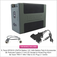 Tracer BP2616 LiFePO4 Battery 12V 16Ah Battery Pack with Accessories & Cables