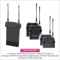 Wisycom MCR42S Receiver Kit with x2 MTP40S/41S Transmitters