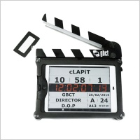cLapit Clapperboard with Liteproof Nuud case for iPad Mini