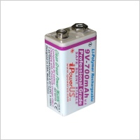iPowerUS 9V Lithium 700 mAh Rechargeable Battery