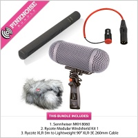 Sennheiser MKH 8060 with Rycote Windshield Kit 1 Rycote Modular Windshield Kit 1 Bundle