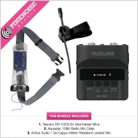Water Resistant Kit -  Tascam 10CS, Aquapac 158b & Active Audio Lav Mic Bundle