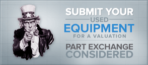 Submit your used equipment for a valuation. Part exchange considered.
