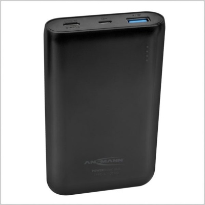 Ansmann Powerbank 10,000mAh Type A & C USB Compact Rechargeable Battery Pack w/ Quick Charge 3.0