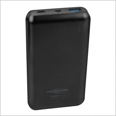 Ansmann Powerbank 15,000mAh Type A & C USB Compact Rechargeable Battery Pack w/ Quick Charge 3.0