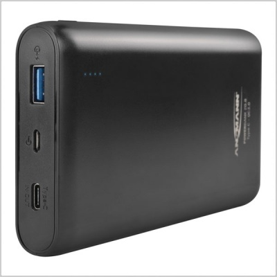 Ansmann Powerbank 20,000mAh Type A & C USB Compact Rechargeable Battery Pack W/ Quick Charge 3.0
