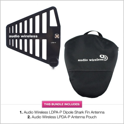 Pinknoise Bundle: Audio Wireless LPDA-P Dipole Antenna w/ HALF PRICE Pouch