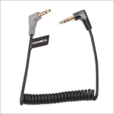 Comica CVM-D Connector Cable (Male to Male) for Smartphone/Camera (Coiled Cable)