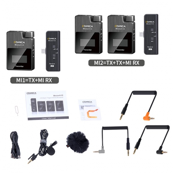 Comica BoomD-X 2.4G Digital Wireless System for iPhone (Single or Dual Channel)