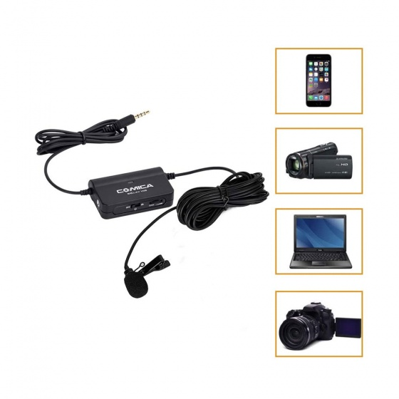 Comica CVM-V05 Multi-Functional Lavalier Microphone for Smartphones (Select Variant)