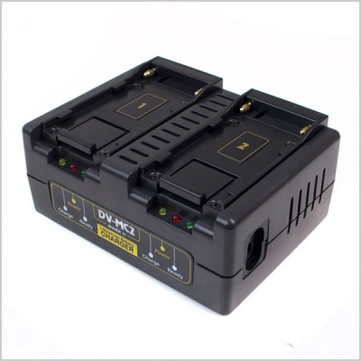 Hawkwoods DV-MC2 2-Channel Simultaneous Charger for DV Style Batteries