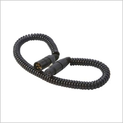 K-Tek K18NK Coiled XLR Microphone Cable (1.5'-9')