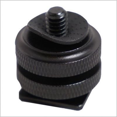 Kaavie KA-J2 Dual Nut Hot Shoe Adapter with 1/4'' Camera Screw