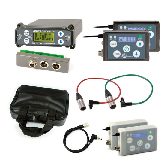 Lectrosonics SRC + 2x SSM Kit w/ External Back Plate Adapter + TX Accessories Bundle