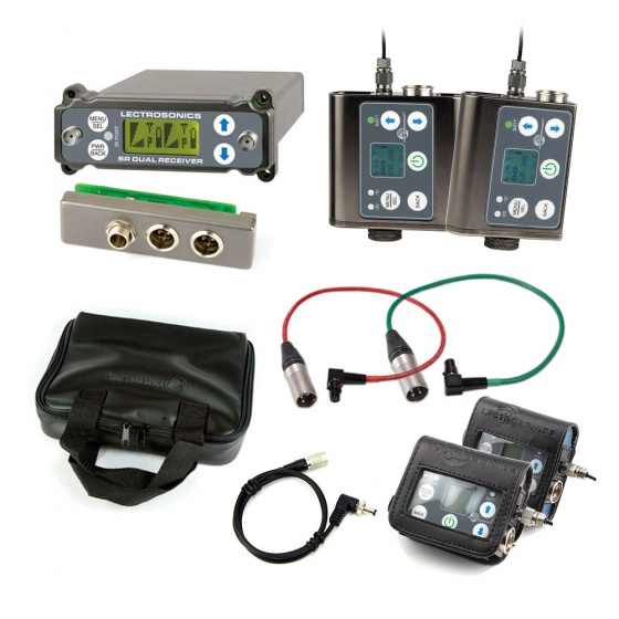 Lectrosonics SRC Dual-Channel Receiver w/ External Back Plate Adaptor + SMWB + SMDWB Transmitters w/ Accessories Bundle