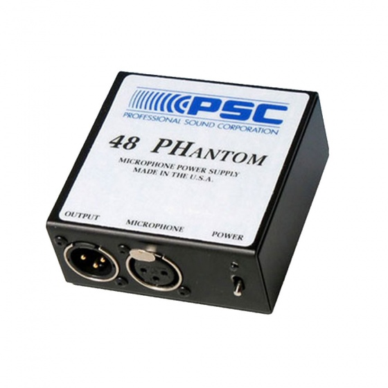 PSC 48PH Phantom Power Microphone Power Supply